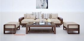 Bộ bàn ghế gỗ mini phòng khách hiện đại