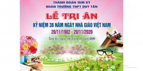 Lễ tri ân thầy cô nhân ngày Nhà giáo Việt Nam tại trường THPT Duy Tân: Trang trọng, tươi vui và ấm áp